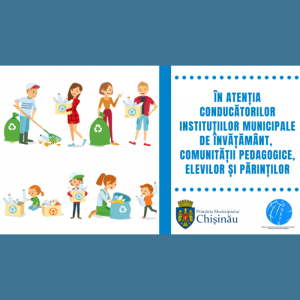 În atenţia conducătorilor instituțiilor municipale de învățământ, comunității pedagogice, elevilor și părinților!