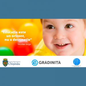 Înscrierea copiilor la una din grădiniţele din Chișinău că o pot face exclusiv prin intermediul serviciului on-line
